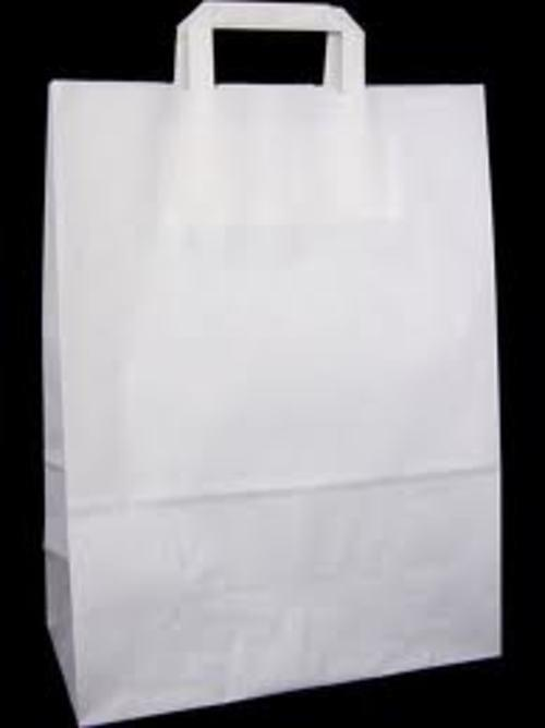 White Recycled Large Carrier Bags pack 125