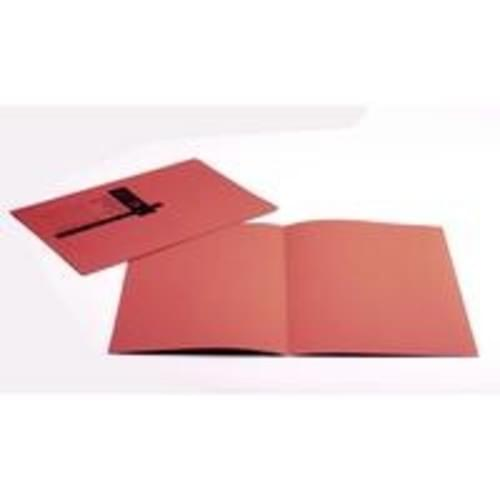 Recycled Square Cut Red Folders x 100
