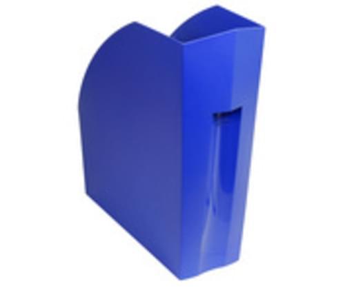 Recycled Juice Bottle Magazine Rack Blue