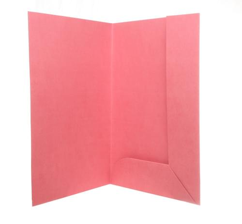 Recycled Tri-Flap Red-Pink Folders pack of 10