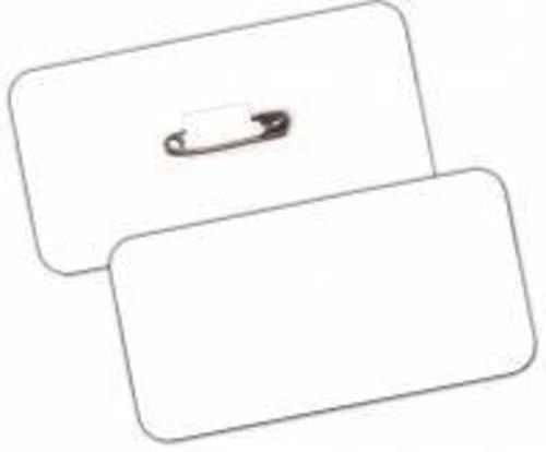 Rectangular Card Badge with Safety Pin Box 100