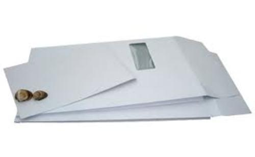 Recycled White Window Gusset Envelopes C4 pack 125