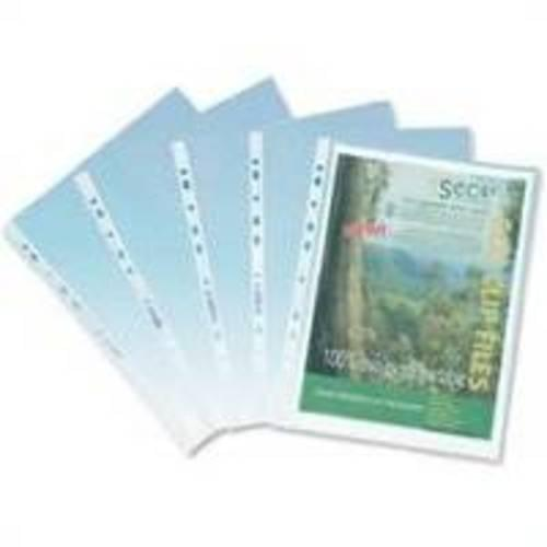 Biodegradable Strong A4 Punched Pockets 100 Pack