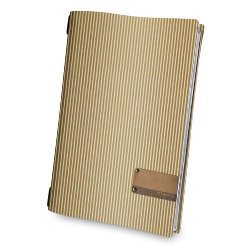 Recycled Brown Corrugated Card Menu Holder A4.  ONLY 5 LEFT
