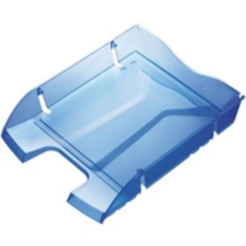 Recycled PET Drink Bottle Shatterproof Letter Tray Blue x 1