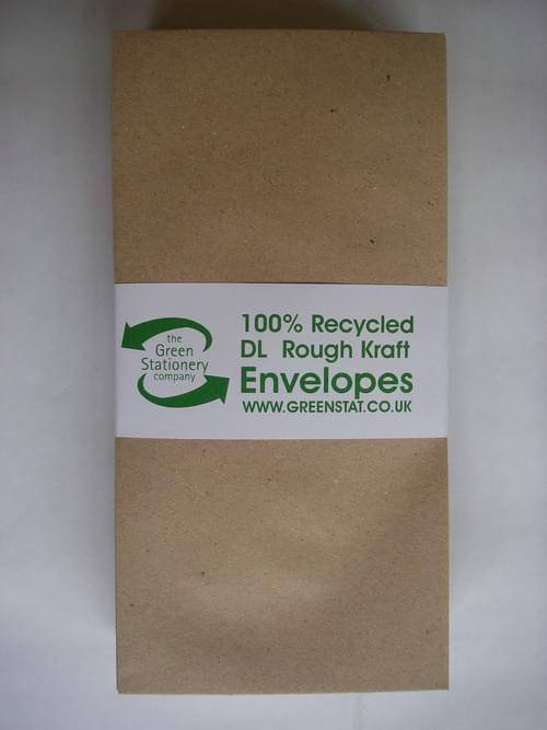 Rough Brown Recycled Kraft DL Envelopes pack 50