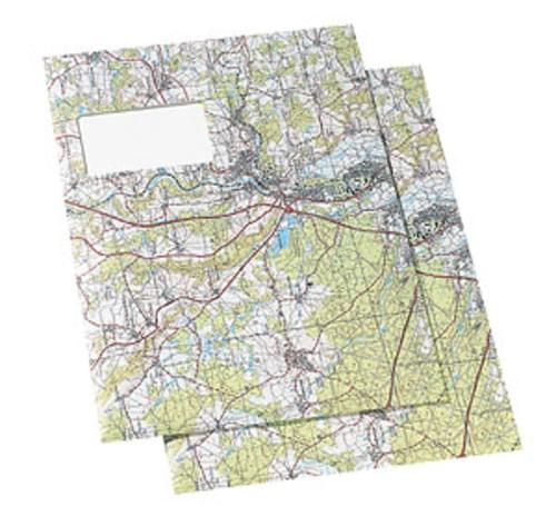 Map Outside C4 Window envelopes Pack 25