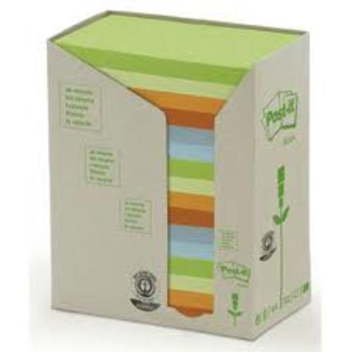 Recycled Post-it 76x127mm Tower Rainbow 16 pads