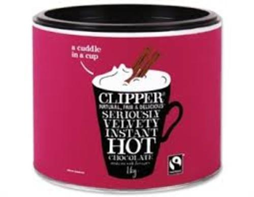 Clipper Fairtrade Instant Drinking Chocolate 1kg Tin