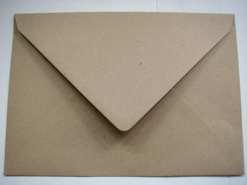 Recycled Rough Kraft C5 Envelopes gummed pack 50