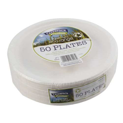 Biodegradable Plates 23cm Pack of 50