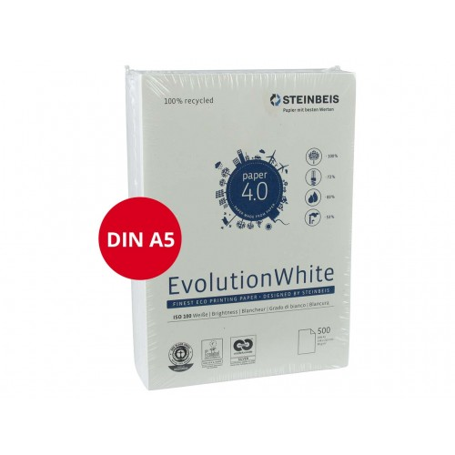 Evolution Recycled A5 Copy Paper 80gsm