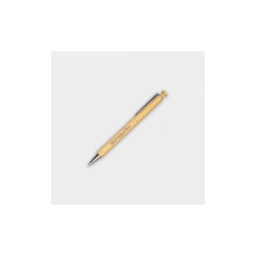 Sustainable Beechwood Blue Pens Pack of 2 Refillable