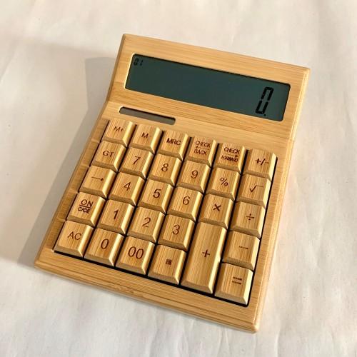 Bamboo Multifunction 12 digit solar calculator