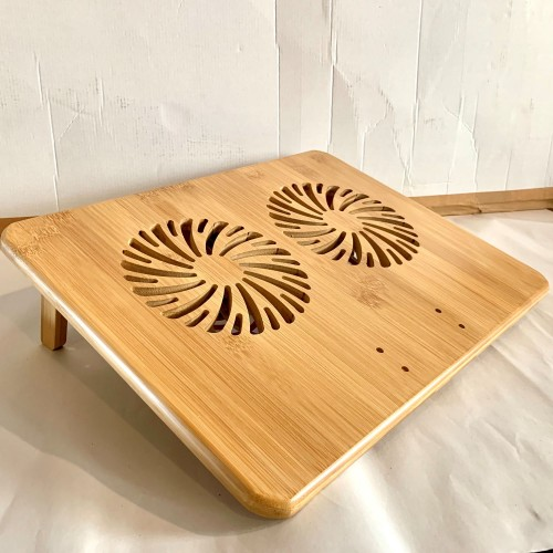 Bamboo Laptop Cooler Table