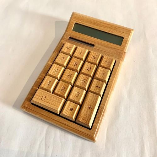 Bamboo Desk Solar Calculator 12 digit