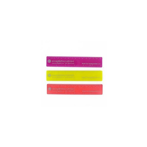 Recycled PINK Polystyrene 6in (15cm) Ruler