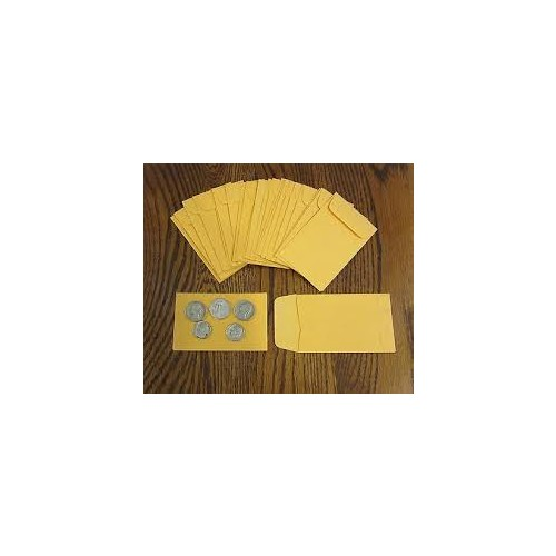 Recycled Small Brown Manilla 67mmx98mm Envelopes pack 100