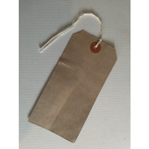 Recycled Brown Strung Tags 135x65 pack 100