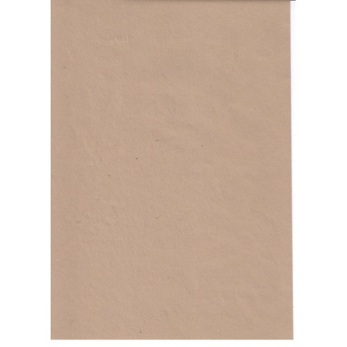 Light Brown Buff  Recycled Sugar Paper 100gsm A4 x 100