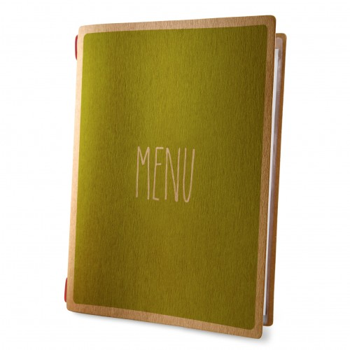 Dag Style Eco Green Recycled Cotton A4  Menu Cover