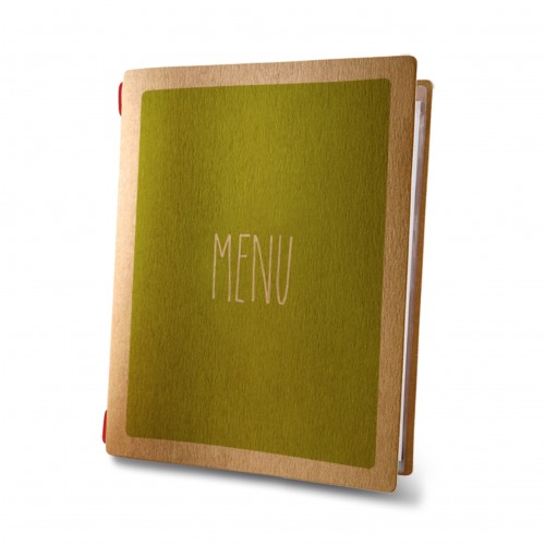 Dag Style A5 Custom Eco Green Menu Cover
