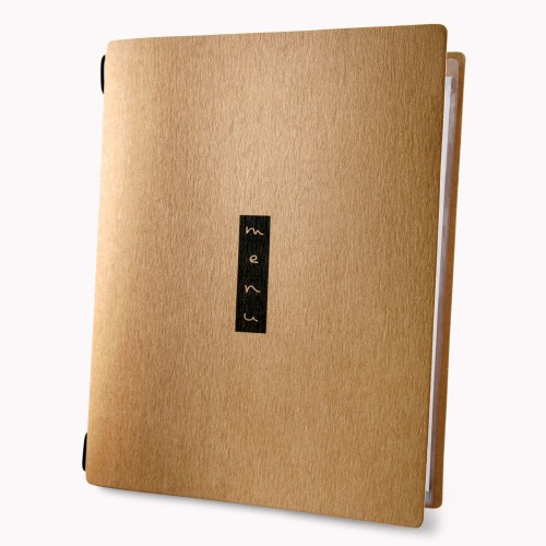 Dag Style A5 Custom Zen Recycled Cotton Menu Cover
