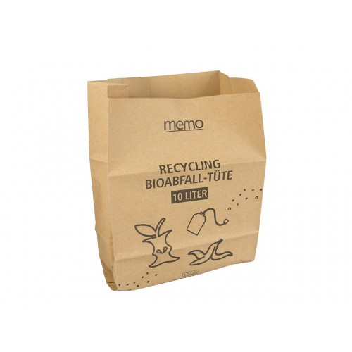 Compostable Paper 10 litre Food Waste Caddy Bags x 20