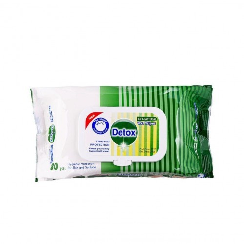 Detox Antibacterial Surface Cleaning Disinfectant Wipes x 120 Wipes