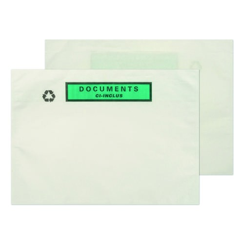 Paper Cellulose Document Enclosed Wallets C5 x 250