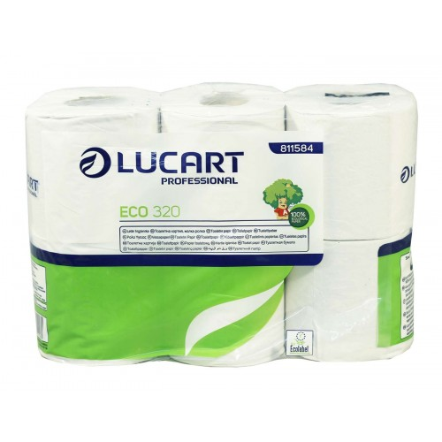 Eco Embossed 2 ply Recycled Toilet Rolls 320 sheets x 36 rolls
