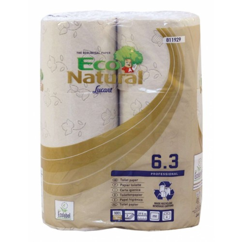 ECO NATURAL Havana 3 ply Toilet Rolls 250 Sheets x 30 rolls - 2 PACKS IN STOCK