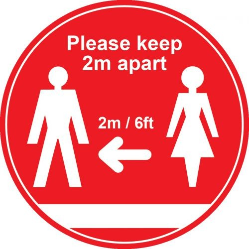 Social Distance floor sign large non slip - ONLY 4 IN STOCK