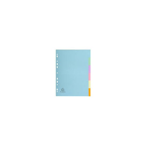 Recycled 5-Part Dividers Assorted Pastel Colours
