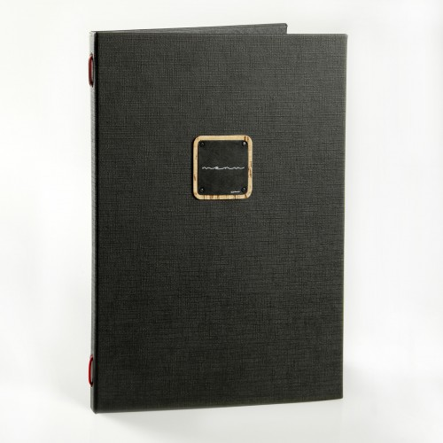 Dag Gourmet A4 Menu Covers Black with plastic free pockets.