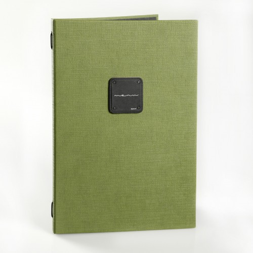Dag Gourmet A4 Menu Covers Green with plastic free pockets