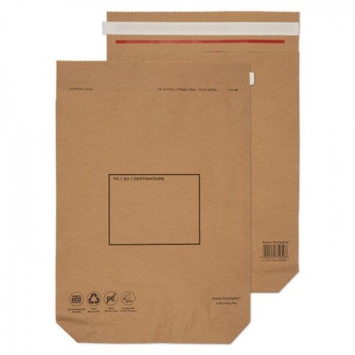 Kraft Mailing Bag Peel and Seal Brown 480 x 380 x 80mm  120gsm pack of 100