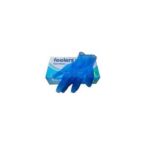 Small Vinyl Gloves Blue latex and powder free Pack of 100