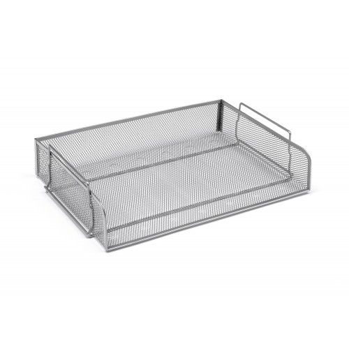 Silver Wiremesh Single Letter Tray Landscape