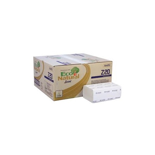 Eco Natural Recycled Hand towels Havana 2 ply box 15 packs x 200 Z Fold