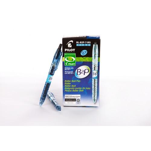 BeGreen B2P PET Bottles 0.7mm Blue Gel Pens x 10