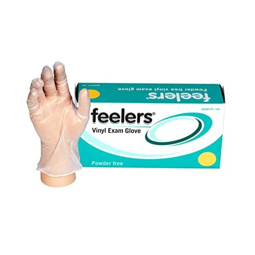 Medium Vinyl Gloves Clear latex and powder free Pack of 100