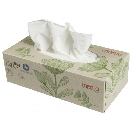 Recycled Extra Soft Facial Tissues 4-ply Box 100 tissues