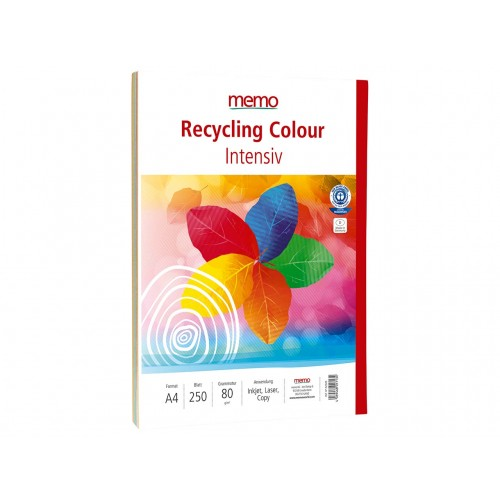 Mixed Bright Colours Recycled 80gsm Copier Paper A4 x 250 sheets