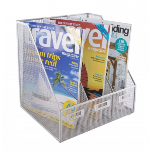 Silver Wiremesh Triple Magazine File