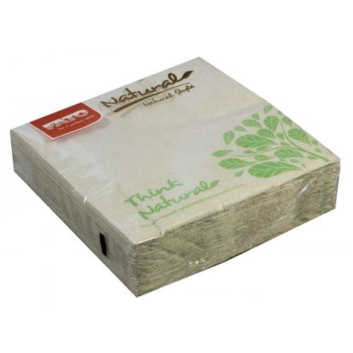EcoNatural Napkins 33x33cm Unbleached x 50 napkins