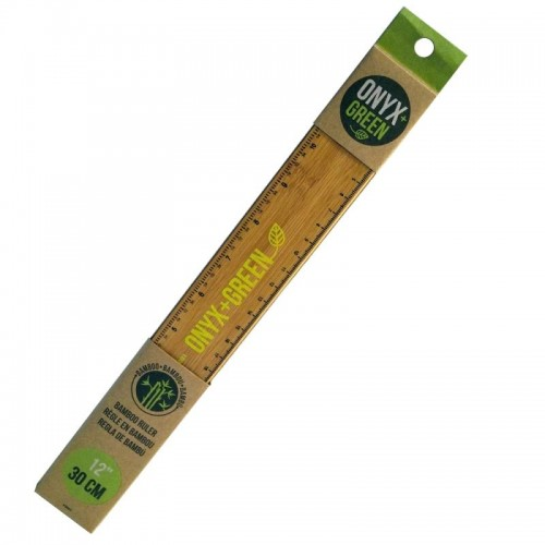 "Onyx Green Bamboo 12"" Ruler"