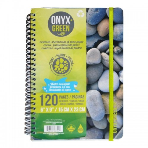 Onyx Green Stone Paper A5 Spiral Notebook