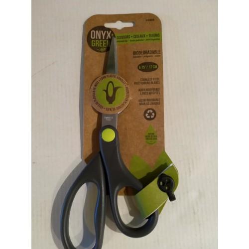 "Onxy Green Corn Handle Scissors 6.75""/17cm"