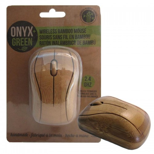 Onyx Green Bamboo Wireless Mouse 2.4GHz